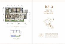 B3-3户型,建面169㎡,实享203㎡